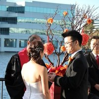 Beauty, Ceremony, Flowers & Decor, orange, red, brown, Hair