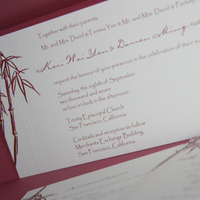 Stationery, red, invitation, Invitations, Bamboo