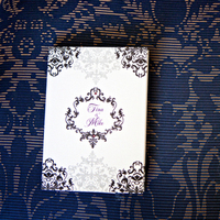 Stationery, purple, black, invitation, Invitations, Damask