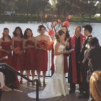 Beauty, Ceremony, Flowers & Decor, orange, red, gold, Ceremony Flowers, Flowers, Hair