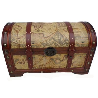 brown, Map, Card, Holder, World, Chest