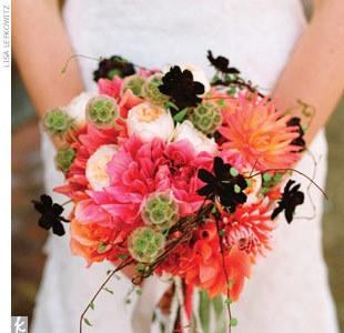 Flowers & Decor, pink, black, Flowers, Bouquets
