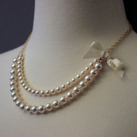 Jewelry, ivory, Necklaces, Bridesmaid, Bridal, Pearls, Necklace, Cream, Swarovski, Beaded, Mercury jane designs