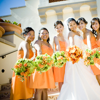 Bridesmaids, Bridesmaids Dresses, Wedding Dresses, Fashion, orange, dress, My bride story weddings events