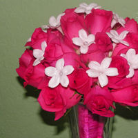 Flowers & Decor, white, pink, Bride Bouquets, Flowers, Roses, Stephanotis, Bouquet, Bridal, Hot