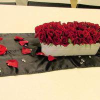 Flowers & Decor, white, red, Flowers, Roses