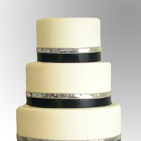 Cakes, white, black, cake, Ribbon Wedding Cakes, Tie, Ribbon, Pastry girl cakes