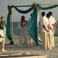 Ceremony, Flowers & Decor, Beach, Beach Wedding Flowers & Decor, Bamboo, Chuppah, A tailored event