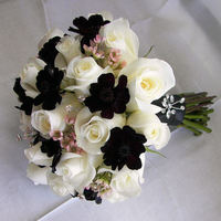 Flowers & Decor, ivory, pink, brown, Bride Bouquets, Flowers, Roses, Bouquet, Chocolate, Cosmos, Wax