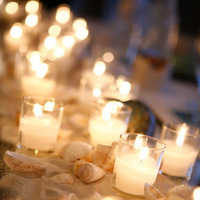 Ceremony, Reception, Flowers & Decor, Photography, white, yellow, red, black, gold, Candles, Food, Candle, Table, Photo, Seating, Candlelight, Photolabel