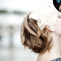 Beauty, Ceremony, Flowers & Decor, Wedding Dresses, Photography, Fashion, white, pink, purple, blue, green, brown, black, dress, Bride, Groom, Kiss, Hair, And, Photo, Candid, Love, Photolabel