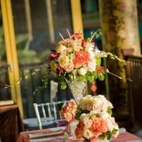 Reception, Flowers & Decor, white, pink, silver, Centerpieces, Contemporary, Girly, Paisley events, High-top
