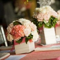 Reception, Flowers & Decor, white, pink, silver, Centerpieces, Vintage, Flowers, Vintage Wedding Flowers & Decor, Roses, Low, Hydrangea, Jewels, Cube, Pave, European, Paisley events