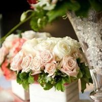 Reception, Flowers & Decor, white, pink, silver, Centerpieces, Vintage, Roses, Centerpiece, Pave, Girly, Paisley events, Jeweles