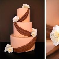 Cakes, white, orange, brown, cake, Eatcakebemerry