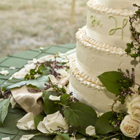 Cakes, white, pink, green, cake, Wedding cake, Green with envy events