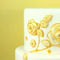 Cakes, white, gold, cake, Eatcakebemerry