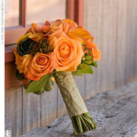 Flowers & Decor, Bridesmaids, Bridesmaids Dresses, Fashion, orange, green, Bridesmaid Bouquets, Flowers, Flower Wedding Dresses
