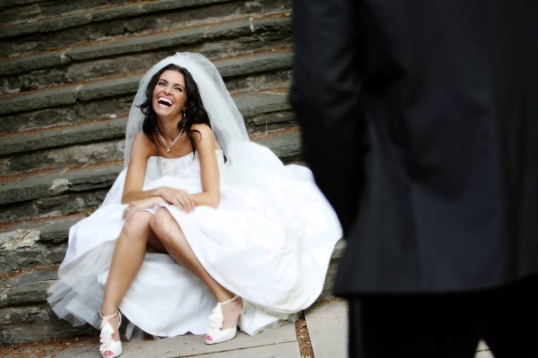 Beauty, Wedding Dresses, Shoes, Fashion, dress, Makeup, Bride, Laughing, Destination photography