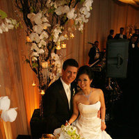 Reception, Flowers & Decor, Cakes, white, green, cake, Flowers, Uplighting