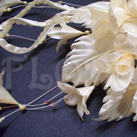 Beauty, Ceremony, Flowers & Decor, Jewelry, Bridesmaids, Bridesmaids Dresses, Wedding Dresses, Fashion, white, ivory, yellow, gold, dress, Ceremony Flowers, Bridesmaid Bouquets, Flowers, Flower, Hair, Champagne, Swarovski crystals, Freshwater pearls, Wedding veil, Floreti, Bridal headwear, Hair accessory, Flower Wedding Dresses