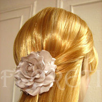 Beauty, Ceremony, Flowers & Decor, Jewelry, Bridesmaids, Bridesmaids Dresses, Wedding Dresses, Fashion, white, yellow, orange, pink, red, purple, blue, green, brown, black, silver, gold, dress, Ceremony Flowers, Bridesmaid Bouquets, Flowers, Hair, Seashell, Couture, Gardenia, Clip, Bridal hair accessory, Flower Wedding Dresses
