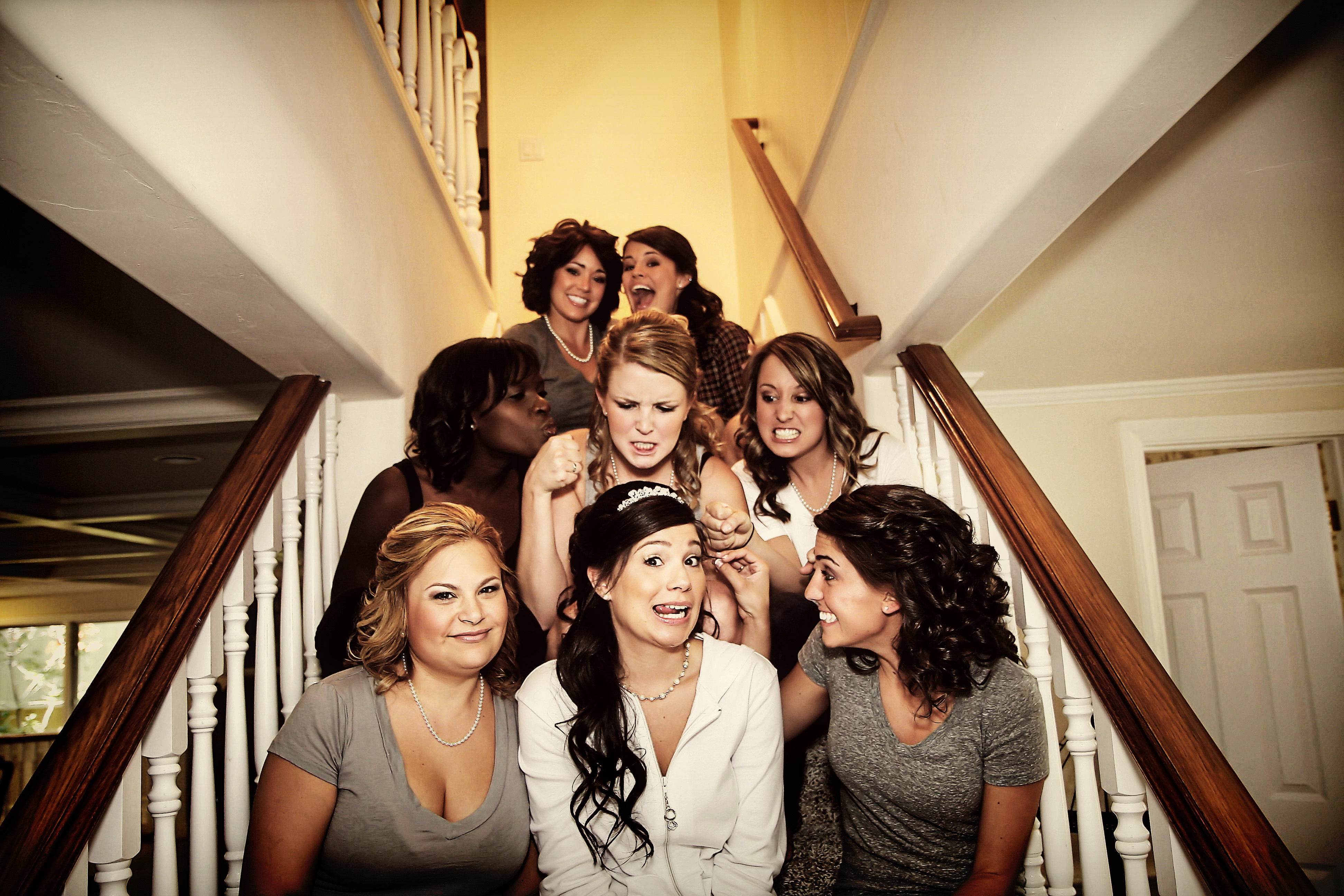 Beauty, Bridesmaids, Bridesmaids Dresses, Fashion, Hair, Fun, Goofy, Julie wilson, Groupshot