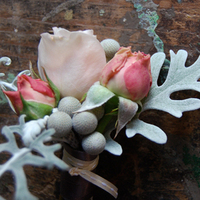 Flowers & Decor, pink, silver, Boutonnieres, Flowers, Boutonniere, Studio choo