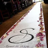 Ceremony, Inspiration, Flowers & Decor, white, purple, black, Ceremony Flowers, Flowers, Monogram, Board, Runner, Julie wilson