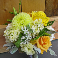 Flowers & Decor, white, yellow, silver, gold, Flowers, Honey and poppies