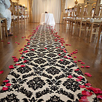 Ceremony, Flowers & Decor, black, Damask