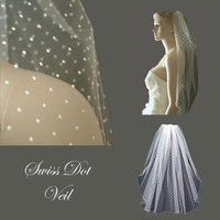 Beauty, Wedding Dresses, Fashion, white, dress, Hair, Wedding veil, Distinctive veils accessories, Swiss dot veil, Polka dot veil