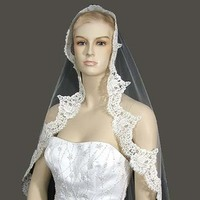 Beauty, Wedding Dresses, Fashion, white, dress, Hair, Wedding veil, Distinctive veils accessories, Wedding mantilla, Lace veil, Alencon lace veil