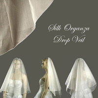 Beauty, Wedding Dresses, Fashion, white, dress, Hair, Wedding veil, Distinctive veils accessories, Organza veil, Drop veil, Silk organza veil