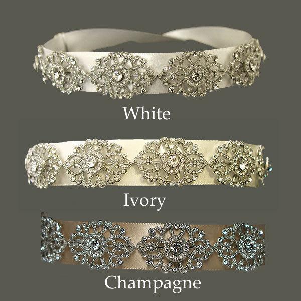 Beauty, Wedding Dresses, Fashion, white, dress, Hair, Distinctive veils accessories, Satin wedding ribbon headband, Satin ribbon headband, Wedding headband