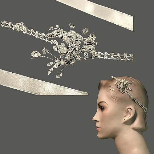 Beauty, Wedding Dresses, Fashion, dress, Hair, Distinctive veils accessories, Satin wedding ribbon headband, Satin ribbon headband, Wedding headband