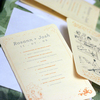 Reception, Flowers & Decor, Stationery, Ceremony Programs, Program, Comic