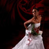 Flowers & Decor, Wedding Dresses, Fashion, white, red, dress, Bride Bouquets, Bride, Flowers, Portraits, Bridal, Studio, Spiritfire photography, Flower Wedding Dresses