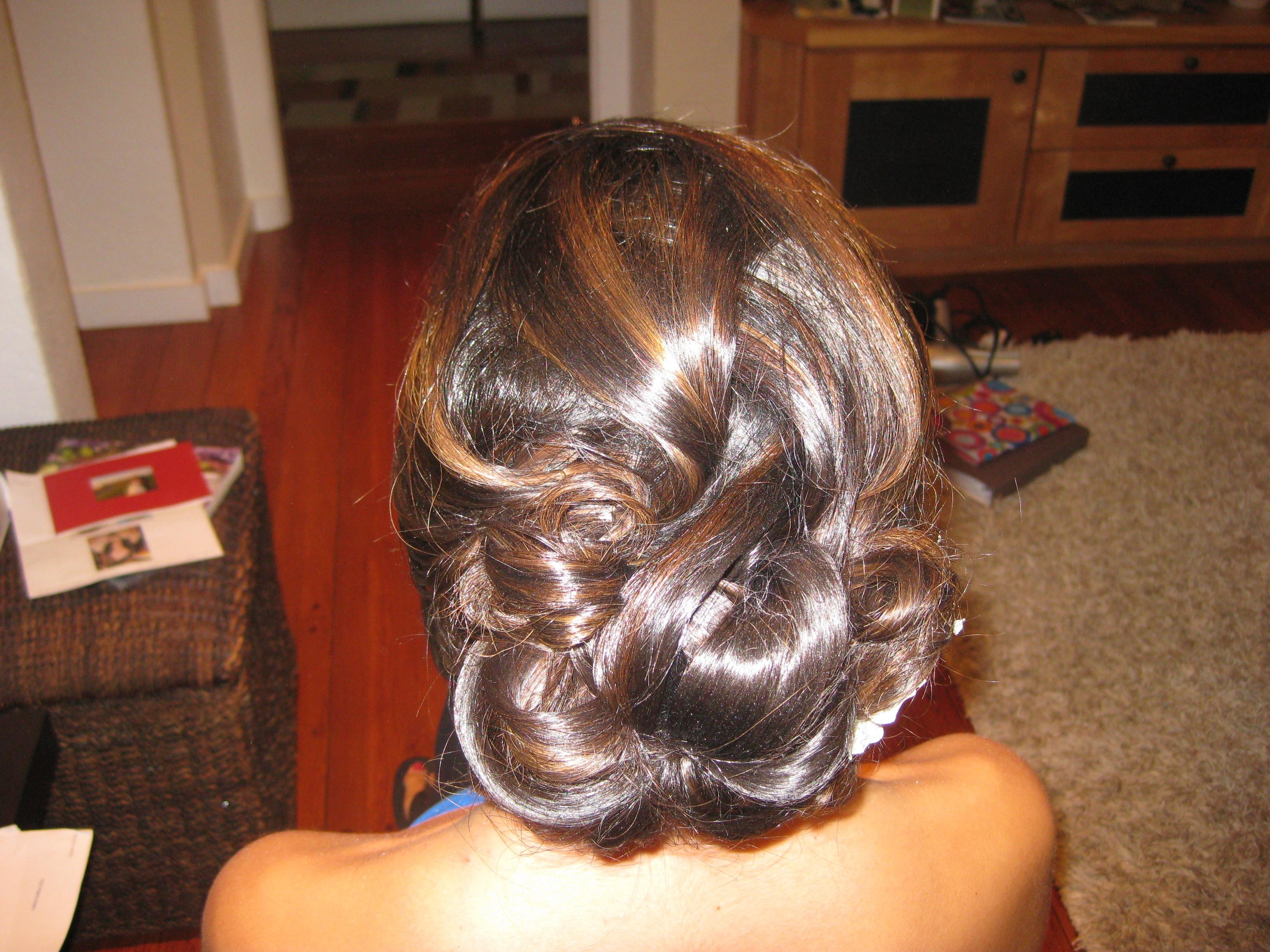 Beauty, Updo, Hair, Elegant