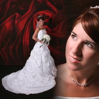 Beauty, Flowers & Decor, Wedding Dresses, Fashion, white, red, dress, Bride Bouquets, Bride, Flowers, Portraits, Hair, Bridal, Studio, Spiritfire photography, Flower Wedding Dresses