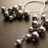 Jewelry, gray, Earrings, Bride, Groom, Wedding, Bridesmaid, Of, Mother, Pearls, The, Stacys designs 88