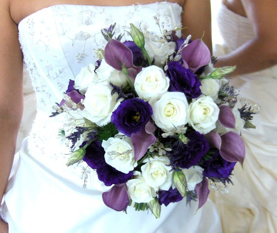 Flowers & Decor, white, purple, silver, Bride Bouquets, Flowers, Bouquet, Bridal, Heaven scent florals