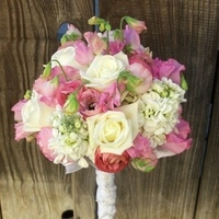 Flowers & Decor, Bridesmaids, Bridesmaids Dresses, Fashion, white, pink, Bride Bouquets, Bridesmaid Bouquets, Flowers, Bouquet, Bridal, Heaven scent florals, Flower Wedding Dresses