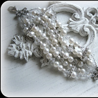 Jewelry, Bracelets, Bride, Groom, Wedding, Bridesmaid, Of, Mother, Pearls, The, Bracelet, 5, Five, Strand, Stacys designs 88