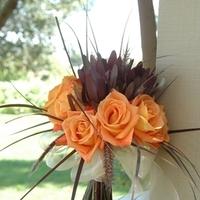 Flowers & Decor, Bridesmaids, Bridesmaids Dresses, Fashion, orange, brown, Bride Bouquets, Bridesmaid Bouquets, Flowers, Bouquet, Bridal, And, Heaven scent florals, Flower Wedding Dresses