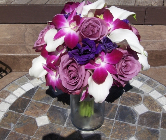 Bridesmaids, Bridesmaids Dresses, Fashion, white, pink, purple, Bouquet, Orchid, Calla, And, Lily, Heaven scent florals