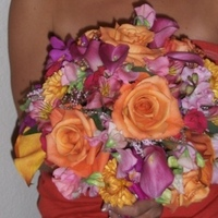 Flowers & Decor, Bridesmaids, Bridesmaids Dresses, Fashion, orange, pink, purple, Bride Bouquets, Bridesmaid Bouquets, Flowers, Bouquet, Color, Multi, Heaven scent florals, Flower Wedding Dresses