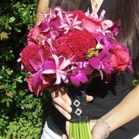 Flowers & Decor, pink, black, Bride Bouquets, Flowers, Bouquet, Brides, Heaven scent florals