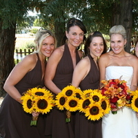 Flowers & Decor, Bridesmaids, Bridesmaids Dresses, Fashion, yellow, brown, gold, Bridesmaid Bouquets, Flowers, Bouquets, Heaven scent florals, Flower Wedding Dresses