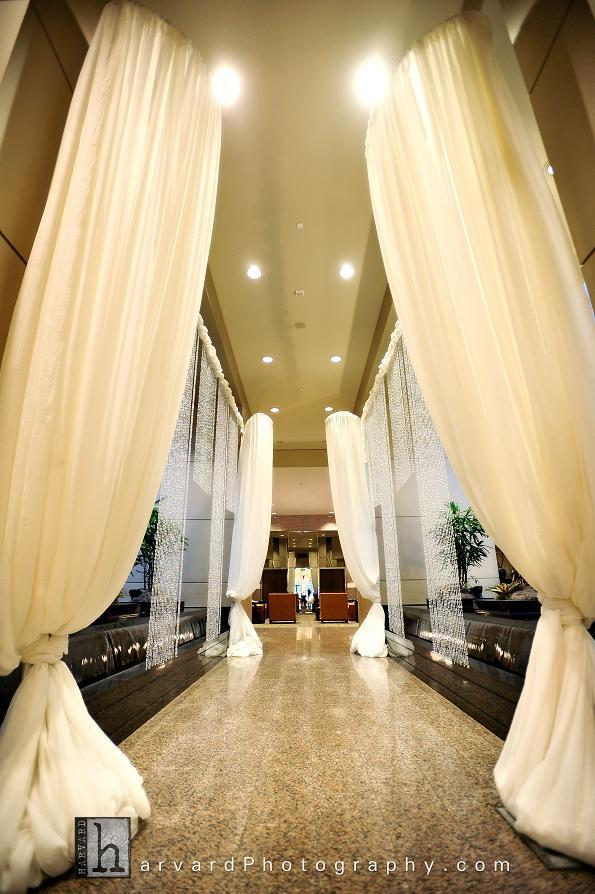 Ceremony, Inspiration, Reception, Flowers & Decor, white, yellow, silver, gold, Board, Draping, Crystals, Sheraton cerritos